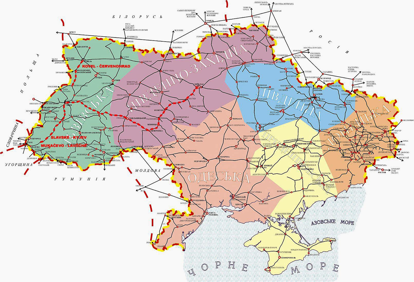 Ukrajina Mapy